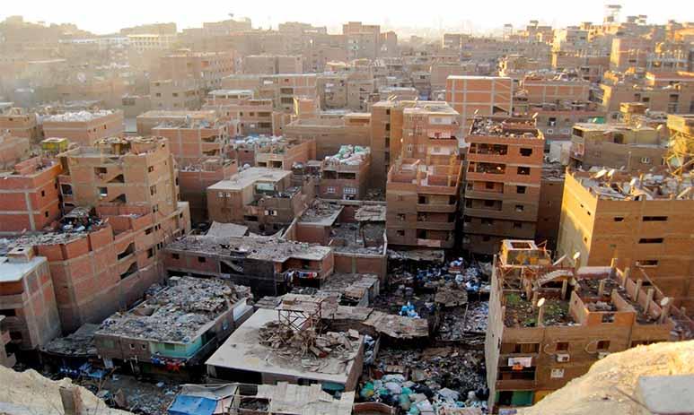 Маншият-Насир - город переполненный мусором