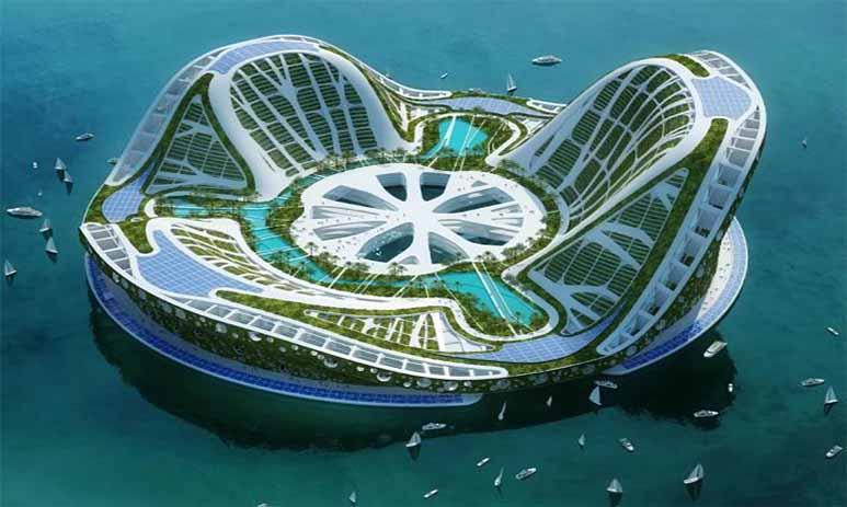 В будущем города будут плавать