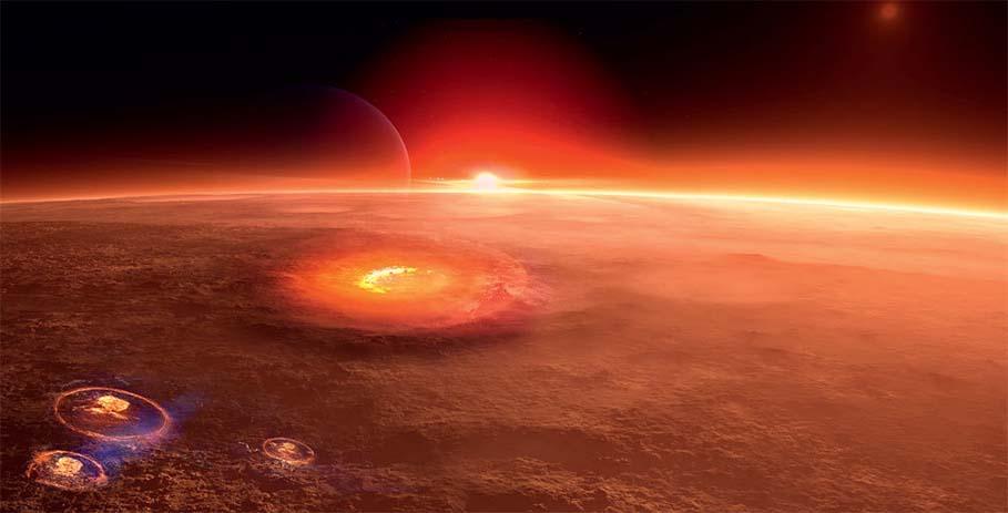 Красной планете не избежать бомбардировок